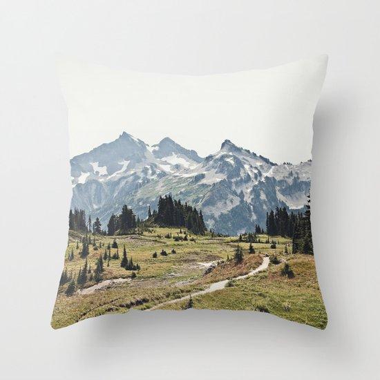 Mountain Trail Throw Pillow