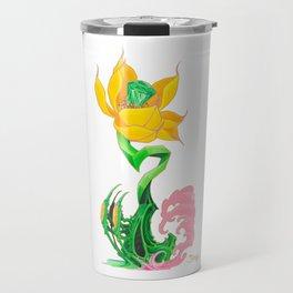 Green Diamond Mech Lotus Travel Mug