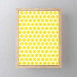 Yellow Gerbera Daisies Illustrated Print Framed Mini Art Print
