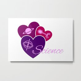 Heart for Science Metal Print