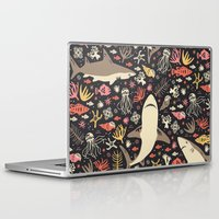 feet Laptop & iPad Skins featuring Oceanica by Anna Deegan