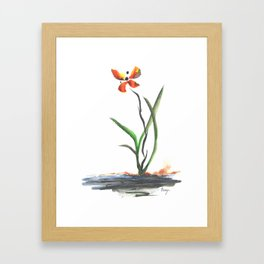 Butterfly Orchid Framed Art Print