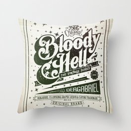 Bloody Hell Throw Pillow