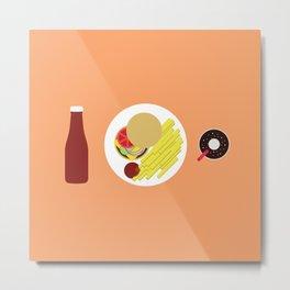 Ketchup Meal Metal Print