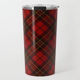 Adorable Red Christmas tartan Travel Mug