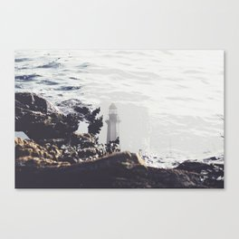 Double Exposure: Lighthouse Canvas Print