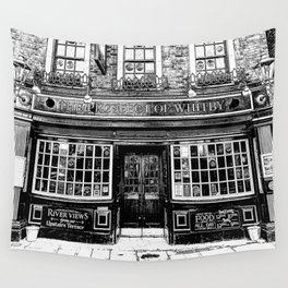 Prospect of Whitby Pub London 1520 art Wall Tapestry