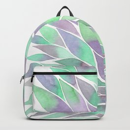 Feathers painting watercolors Backpack