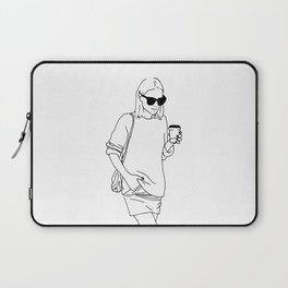 Woman with Coffee Laptop Sleeve
