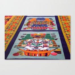 Guatemalan Alfombras Canvas Print