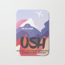 USH Argentina airport Patagonian Bath Mat