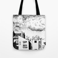 buildings Tote Bags featuring Buildings by Giuseppe Vassallo