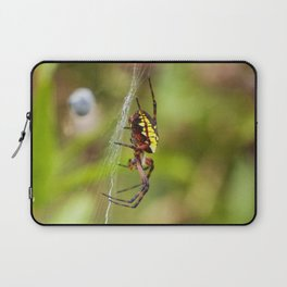 Yellow and Black Argiope Laptop Sleeve