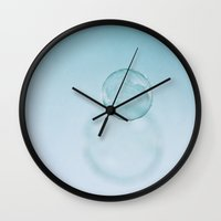 bubble Wall Clocks featuring Bubble by Lawson Images