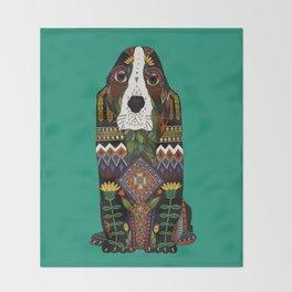 Basset Hound jade Throw Blanket