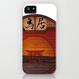 Japanese Torii - Round Landscapes #2 iPhone Case