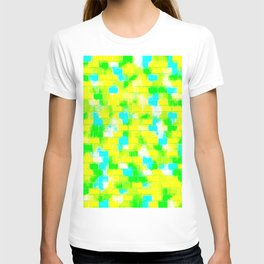 BRICK WALL SMUDGED (Greens, Yellows & Light Blues) T-shirt