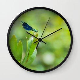 Metallic dragonfly Wall Clock