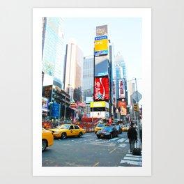 283. Amazing Time Square, New York Art Print