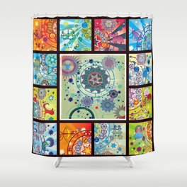 all zodiacs Shower Curtain