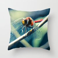ruby Throw Pillows featuring Ruby by Faded  Photos