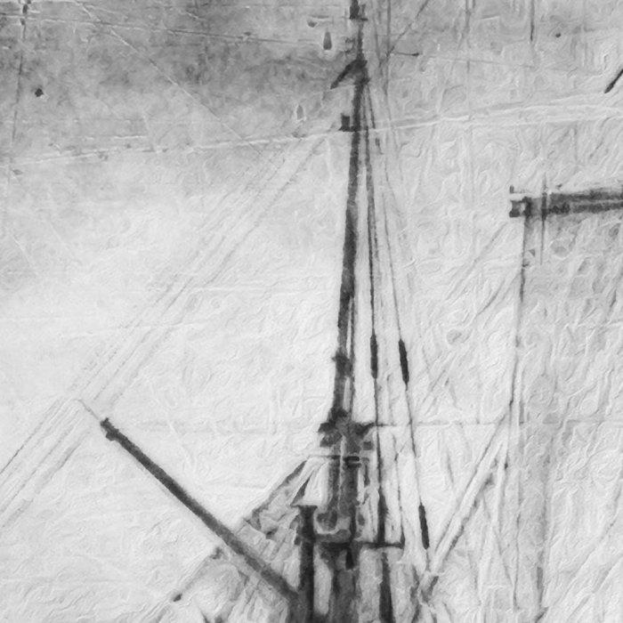 black and white ship Leggings