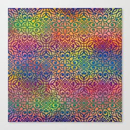DP050-1 Colorful Moroccan pattern Canvas Print