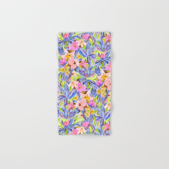 Flaunting Floral Periwinkle Hand & Bath Towel