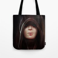 mass effect Tote Bags featuring Mass Effect: Kasumi Goto by Ruthie Hammerschlag