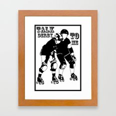 Roller Derby Design by Colleen Trillow Framed Art Print