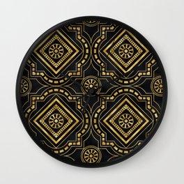 Art Deco 24-Karat Gold: The Forbidden Love Dance Wall Clock