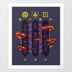 Alien Sorcery Art Print