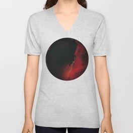 Black Lava on White Unisex V-Neck
