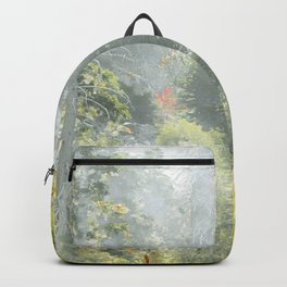 green pine tree background Backpack