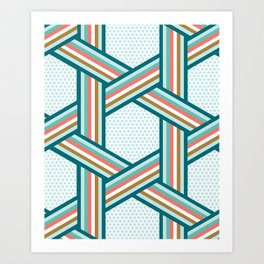 Stripes And Dots Art Print