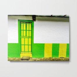 Doors - Green and Yellow Metal Print