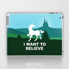 I WANT TO BELIEVE - Unicorn Laptop & iPad Skin