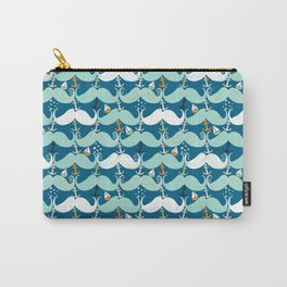 Mustache Waves Carry-All Pouch