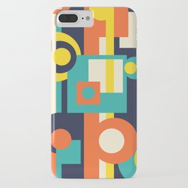Funky Geometry (Modern Vibrant Color Palette) iPhone Case