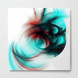 abstract fractals 1x1 reac2si Metal Print