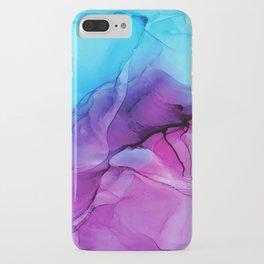 Aqua Pop - Alcohol Ink Painting iPhone Case