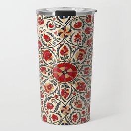 Bokhara Suzani Uzbekistan Colorful Embroidery Print Travel Mug