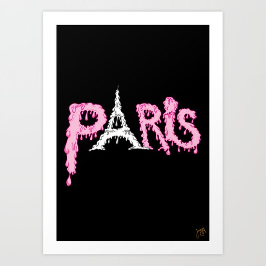 Paris is melting.... Art Print