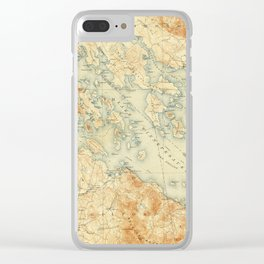 Vintage Map of Lake Winnipesaukee (1907) Clear iPhone Case
