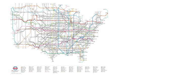 As A Subway Map.U S Numbered Highways As A Subway Map Coffee Mug