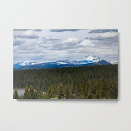 Lassen Peak view Metal Print