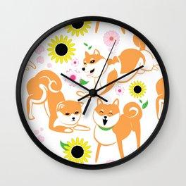 Spring Shiba Wall Clock