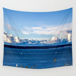 mountains across the puget sound Wall Tapestry