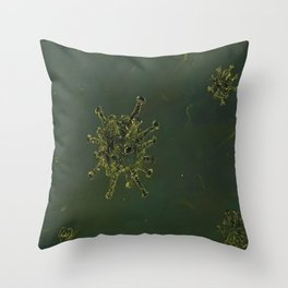 Virus, biology, oil painting by Luna Smith, LuArt Gallery, nature Throw Pillow