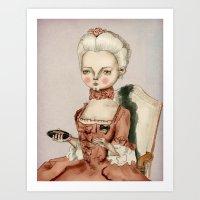 marie antoinette Art Prints featuring Marie Antoinette by Maripili